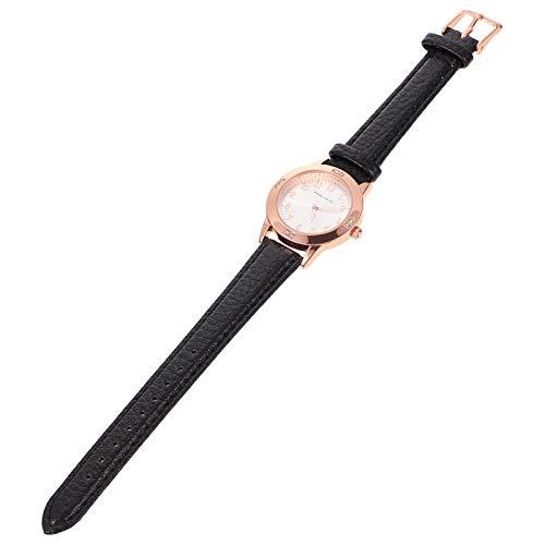 ibasenice Reloj de Pulsera de Cuarzo de Acero Inoxidable para Mujer a La Moda Reloj de Pulsera Resistente Al Agua