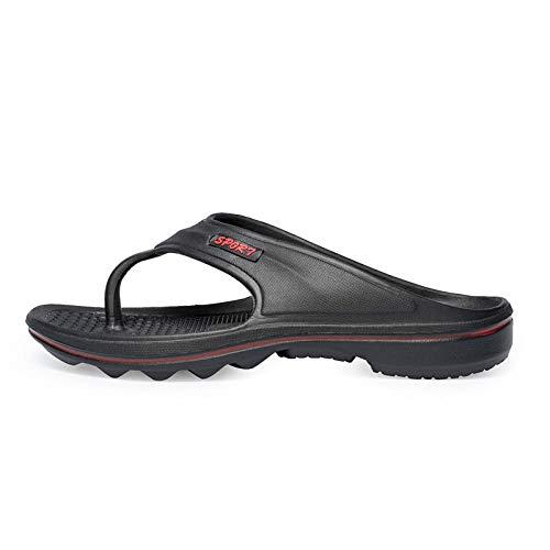 MedusaABCZeus Sandalias de Verano Playa,Chanclas Antideslizantes y desodorantes, Zapatos de Playa de Moda-Negro_38,Toe Post Sandals