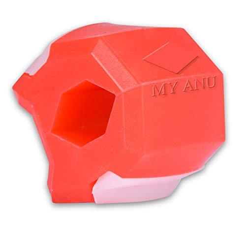 My Anu - Allenatore per la mascella, per definire la mascella con il Jawline Trainer I per rafforzare la muscolatura del viso I diversi livelli di resistenza di blu – rosso – nero (22,7, rosso)