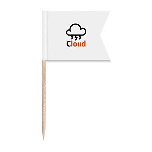 Cloud Light Th&er Nature Laut Zahnstocher Flaggen Markierung für Party Kuchen Lebensmittel Käseplatte
