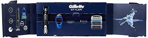 Gillette Styler Multiusos Maquinilla de Afeitar Hombre, Perfiladora + 3 Cabezales