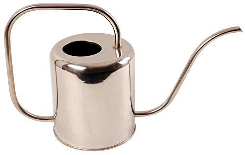 Esschert Design Gießkanne Chrom, schlankes Design, 1,5 Liter