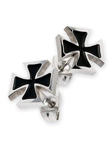 Fly Style Ohrstecker Edelstahl Ohrringe Eisernes Kreuz Templerkreuz für Damen und Herren