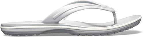 crocs Unisex-Erwachsene Crocband Flip Flop Zehentrenner, Grau (Light Grau/White 00j), 46/47 EU