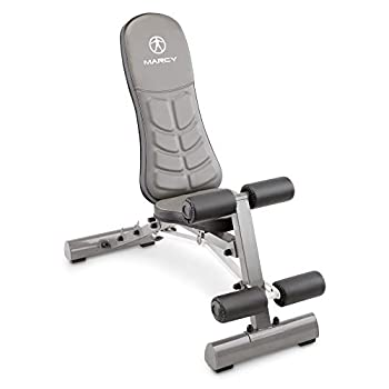 Marcy Deluxe Foldable Utility Bench Gym Equipment - SB-10100  Black