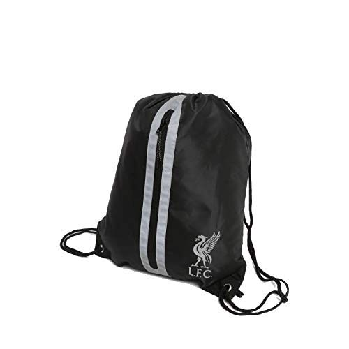 Liverpool FC Black/Silver Gym Sack LFC Official
