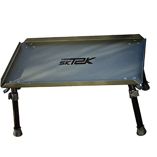 Sonik SK_TEK Bivvy tafel met verstelbare poten - vistafel 47cm x 30cm x 22-33cm olijf groen - tenttafel met transporttas voor karpervissen vissen vissen toebehoren