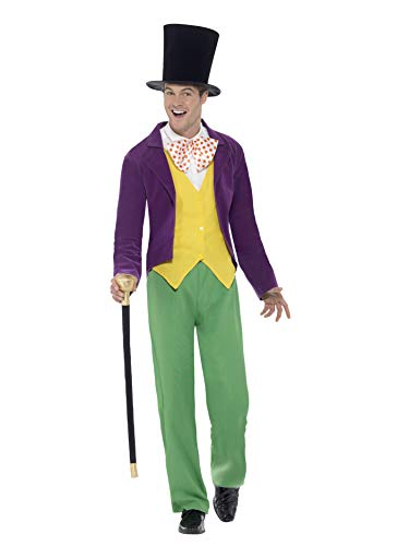 Smiffy's - heren Willy Wonka kostuum, meerkleurig Kostuums Medium multicolor