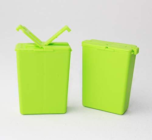 Tupperware to Go 2X Würzling 25ml grün C72 Salzstreuer Pfeffer/Salz Streuer + Hängelöffel