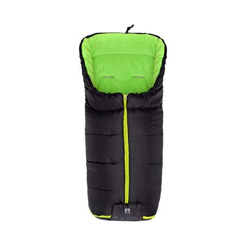babycab Chancelière d'hiver Eco big pour poussette et poussette-canne accessoires pour poussette, noir/vert