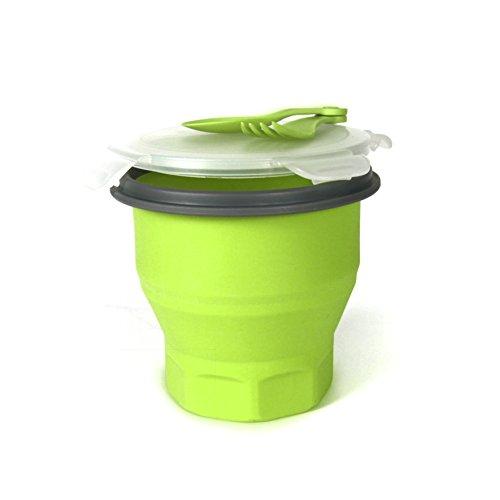Take Away KA1092 Boîte à Repas Pasta Rétractable Silicone Vert/Blanc/Violet/Rouge 13,5 x 13,5 x 12,5 cm *Coloris Aléatoire*