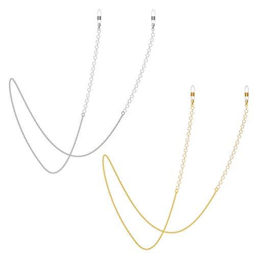 EXCEART 2 Piezas de Soporte de Gafas de Cadena en Forma de Estrella Collar de Gafas Correa de Cadena con Cordón para Hombres Y Mujeres