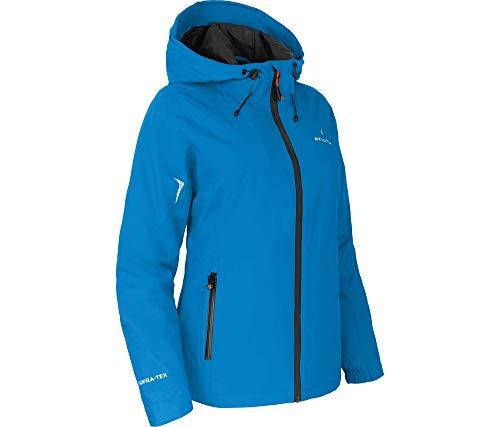 Bergson Helli Thermo   leicht wattierte Damen Regenjacke mit 12.000er Wassersäule, Blue Aster [337], 19 - Damen