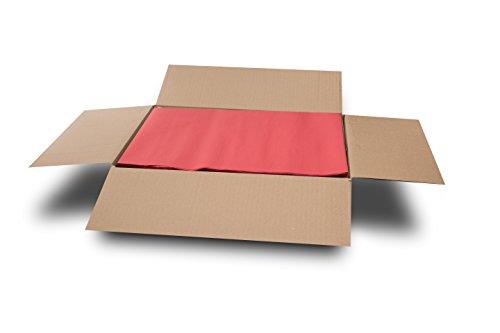 MORIGAMI MT300100045 Mantel Individual, 30 x 40 cm, Gofrado, 44 gramos, Rojo, Set de 800 unidades