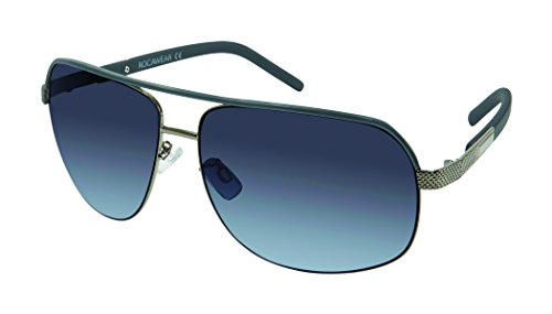 Rocawear R1423 Aviator Handsome UV Protective Metal Navigator Sunglasses | Wear All-Year | A Groovy Gift, 64 mm, Gunmetal/Teal