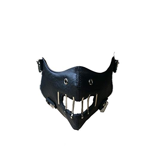 Silence of The Lambs Mask Hannibal Lecter Cosplay Half Face Mask Halloween Mask Black