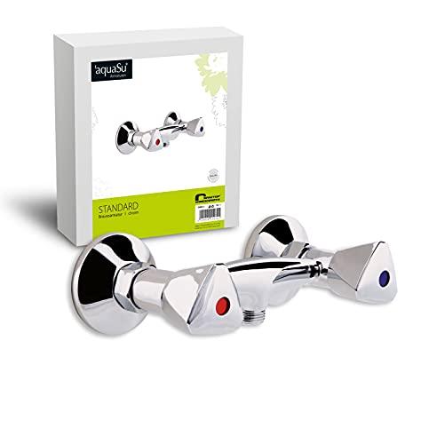 AquaSu - Duscharmatur mit Zweigriffmischer für Brause, Chrom
