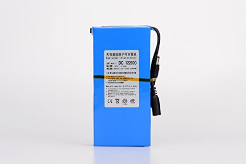ABENIC Super Polymer Rechargeable 20000mAh Lithium-ion Battery DC 12V 2A (24W),DC122000 Blue