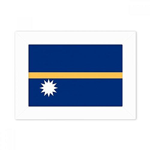 DIYthinker Nauru National Flagge Ozeanien Land Desktop-Foto-Rahmen-Weiß-Bild-Kunst-Malerei Passt 10.2 x 15.2cm (4 x 6 Zoll) Bild Mehrfarbig