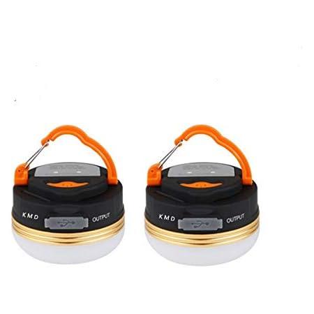 kaimaoda LEDランタン USB充電式 アウトドアライト 3つ調光モード 小型で軽量 IP65防水 携帯便利 モバイルバッテリー機能付 マグネット式 アウトドア&登山 夜釣り 防災対策 2個セット (2个)