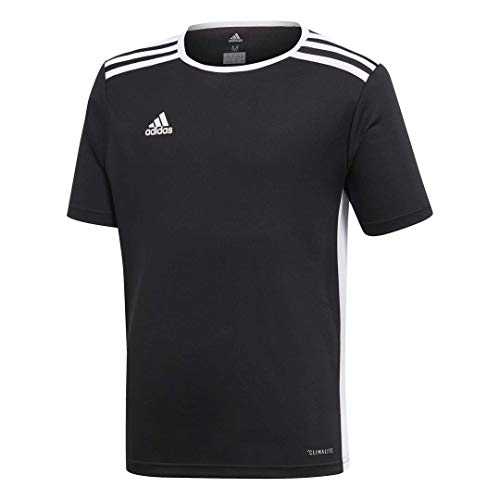 adidas Boys' Entrada 18 Jersey, Black/White, Large