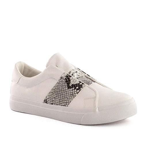 PAYMA - Zapatillas Bambas Deportivas Plataforma Mujer. Tenis Deporte, Casual y Caminar. Cierre Elastico y Velcro. Color: Blanco Animal. Talla 39