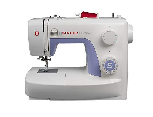 Singer Simple 3232 - Macchina da cucire, 32 operazioni di cucito per qualsiasi tessuto: basic, elasticizzato, decorativo, Bianco/Lavanda