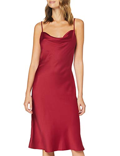 Amazon-Marke: find. Damen Midi-Satinkleid, Mehrfarbig (Multicoloured), 42, Label: XL