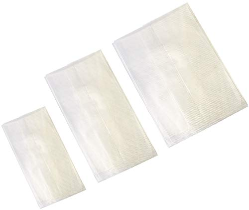 Sac en alcool polyvinylique soluble pour appâts solides - Accessoire pour la pêche à la carpe - 3 tailles disponibles - Lot de 100, 8cm X16cm