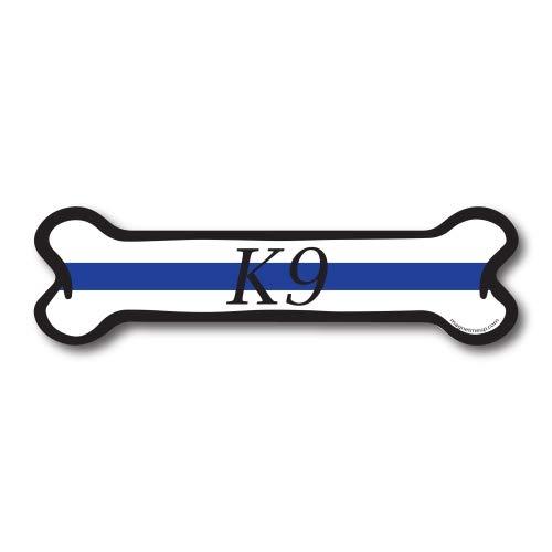 Magnet Me Up Thin Blue Line K9 Dog Bone Car Magnet Dog Bone Auto Truck Decal Magnet