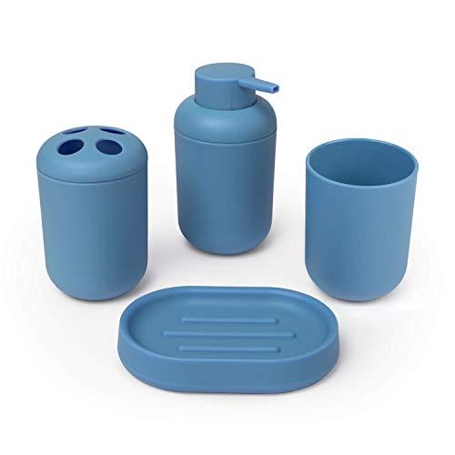 Montse Interiors, S.L. Conjunto Accesorios baño Azul : Jabo