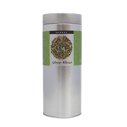 The Exotic Teapot - Sleep Tea Blend, 75g Tin, Camomile, Lavender, Peppermint, Bedtime Herbal Infusion