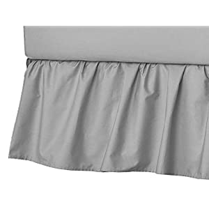American Baby Company Ultra Soft Microfiber Ruffled Porta/Mini-Crib Skirt, Grey, for Boys and Girls