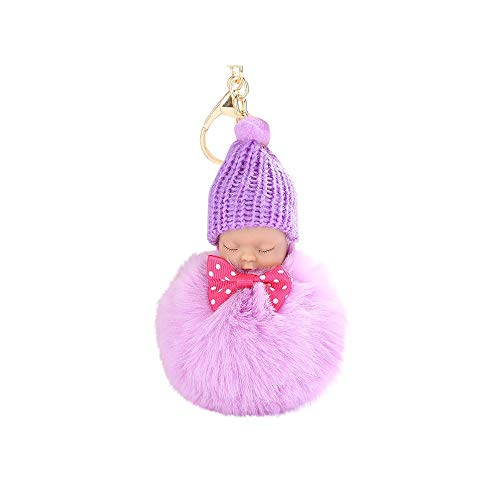Aiserkly 8CM Soft Cute Doll Keychain Pendant Women Key Ring Holder Pompoms Key Chains Souvenir Friend Trend Gifts Jewelry