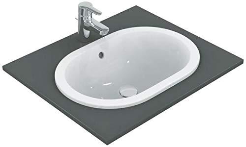 Ideal Standard Connect Aufsatzwaschbecken E5049MA, 620x 410x 175mm oval mit Überlauf weiß mit Ideal Plus