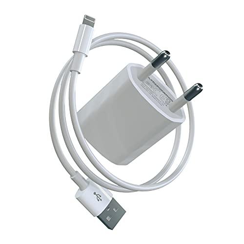 Ultrapower100 Caricatore compatibile con iPhone Spina con cavo di ricarica