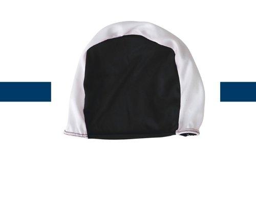 Visiodirect Bonnet de Bain en Polyester pour Les Adultes de Couleur Blanc/Noir