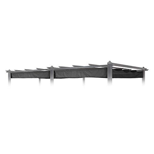 blumfeldt Pantheon Roof Pergola-Dach Ersatz-Dach Sonnendach (3 x 6 m, witterungsbeständig, wasserabweisend, passgenau für Pantheon Pergola) grau