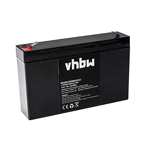 vhbw Batería de a Bordo para Caravana, Barco, Camping, Autocaravana (7 Ah, 6,4 V, LiFePO4)