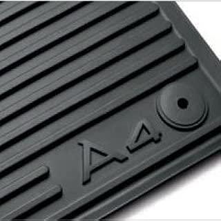 AUDI Genuine 2009-2013 A4 Avant / 2009-2013 A4 Sedan All Weather Floor Mats, Black - Front