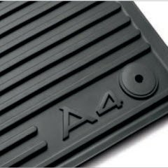 AUDI Genuine 2009-2013 A4 Avant / 2009-2013 A4 Sedan All Weather Floor Mats, Black - Front