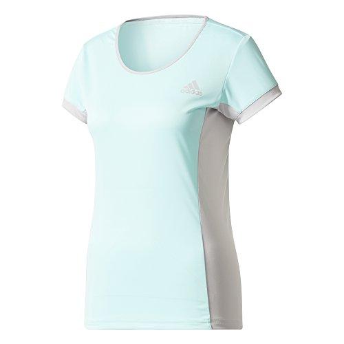 adidas Court tee Camiseta de Tenis, Mujer, Multicolor (Aquene), S