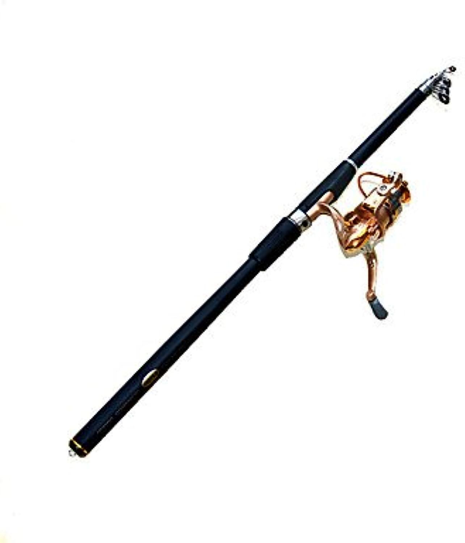 RTS Fishing Rod Telespin Rod FRP 270 M General Fishing Rod & Reel Combos Black