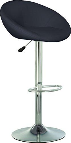 CHAISE-EXPERT Tabouret DE Bar Design. PIVOTANT A 360°. Hauteur RÉGLABLE 89-102 CM. (Noir)