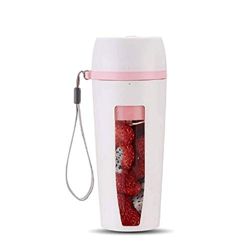 YFGQBCP Licuadora portátil, Juicora de Blender Personal inalámbrico, Smoothies Maker Fruit Blender Bottle TOB con USB Recargable, para Hogar, Oficina, Deportes, Aire Libre (Color : White)