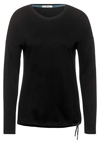 Cecil Damen Shirt mit Leichter Struktur Black M
