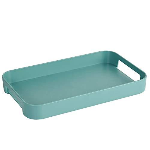 Tray Haushalt rechteckig Gebäck Früchtetee Cup Tee-Set Tisch Stäbchen Serviertablett Küchenmesser Kleine Platte (2 Stück 1 Set)