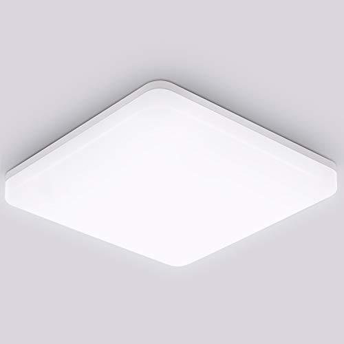 Oeegoo Deckenleuchte LED Deckenlampe 15W, 1500Lm Flimmerfreie LED Badlampe, IP44 Wasserdichte LED Deckenleuchte Für Bad Balkon Waschküche Keller Küche Flur, 4000K