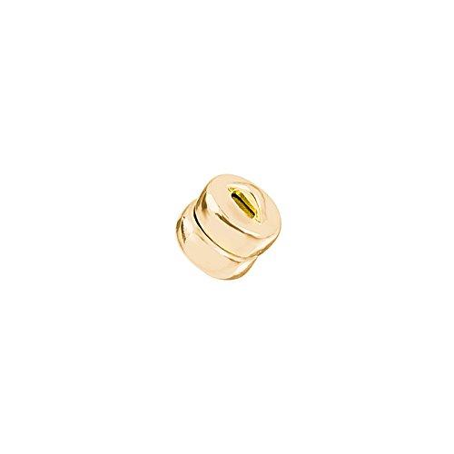 Fermoir magnétique doré solide plat rond 5 mm (PK1)