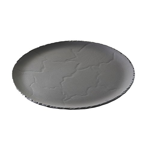 Revol RV641010 Assiette Basalt, Porcelaine, Anthracite, 32 x 32 x 1,5 cm